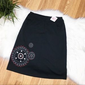 Hanna Andersson Girls Embroidered Skirt 160 14/16